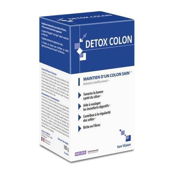 Ineldea Santé naturelle - Détox colon - 10 sachets