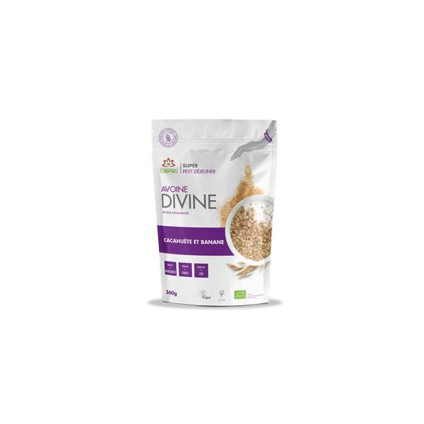 Iswari - Mix à l'Avoine divine cacahuètes et bananes - 360g