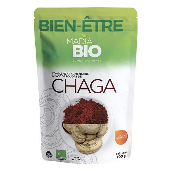 Madia Bio - Poudre de chaga 100g