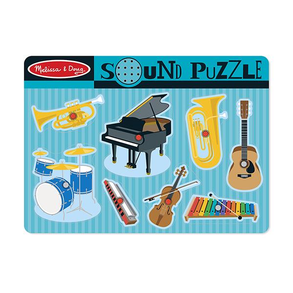 Melissa & Doug - Puzzle sonore Instruments de musique - Dès 2 ans