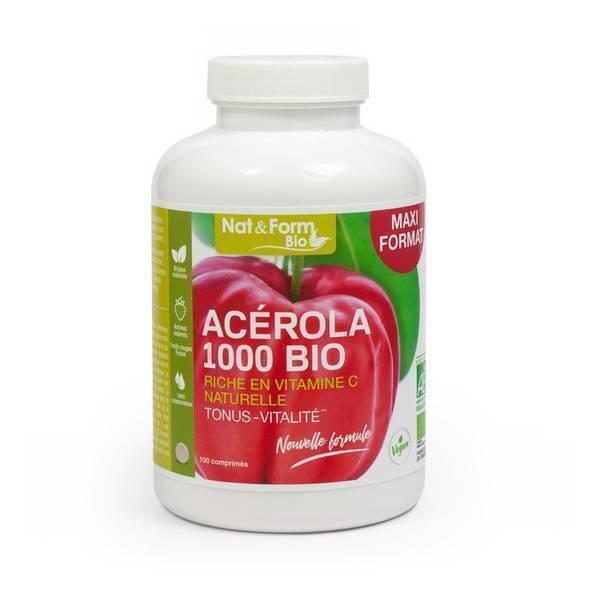 Nat & Form - Acérola 1000 - 100 comprimés