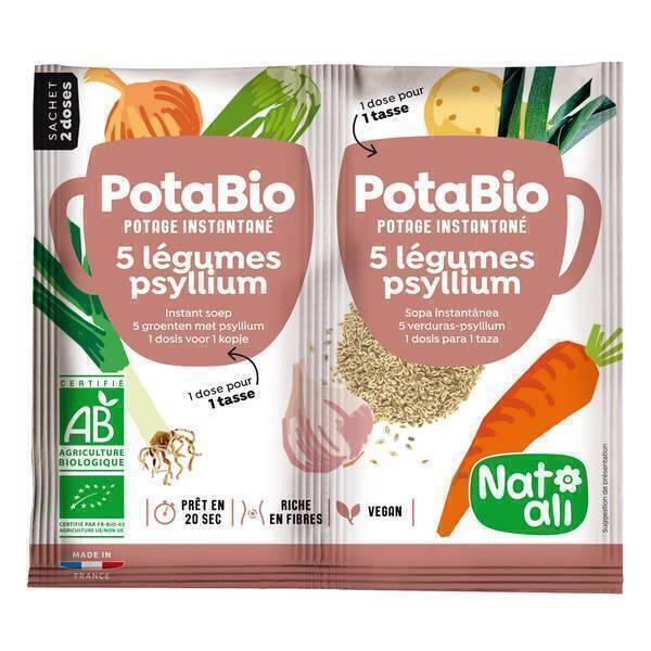 Natali - Potabio 5 légumes-psyllium 2x8,5g
