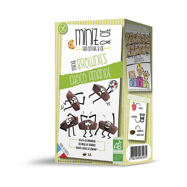 Nature & Cie - Mini brownies chocolat amande 180g