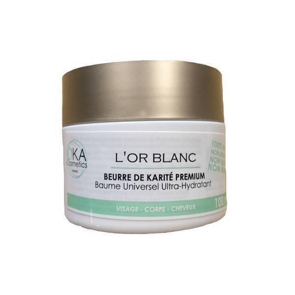 Oka Cosmetics - L'or blanc - beurre de karité pur premium 500ml