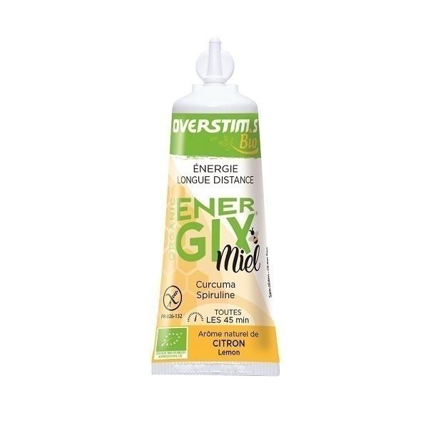 Overstims - Lot de 3 gels énergétiques endurance Energix miel Bio 25g