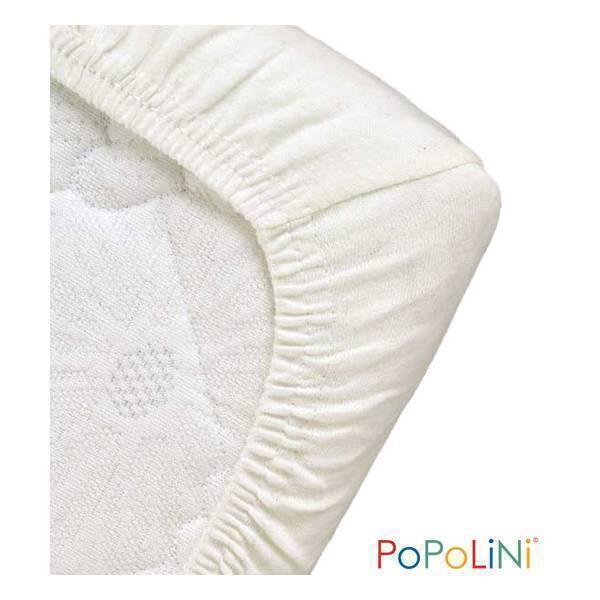 Popolini - Drap Housse Blanc 70x140cm