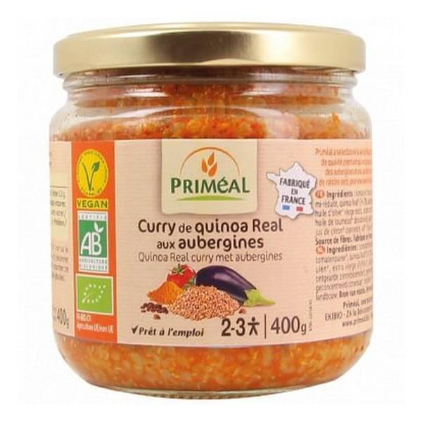 Priméal - Curry de quinoa real aux aubergines 400g