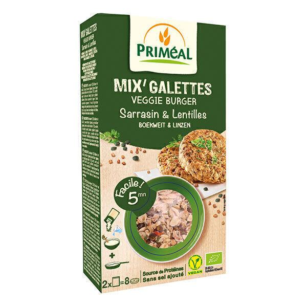 Priméal - Mix' galettes sarrasin et lentilles 250g