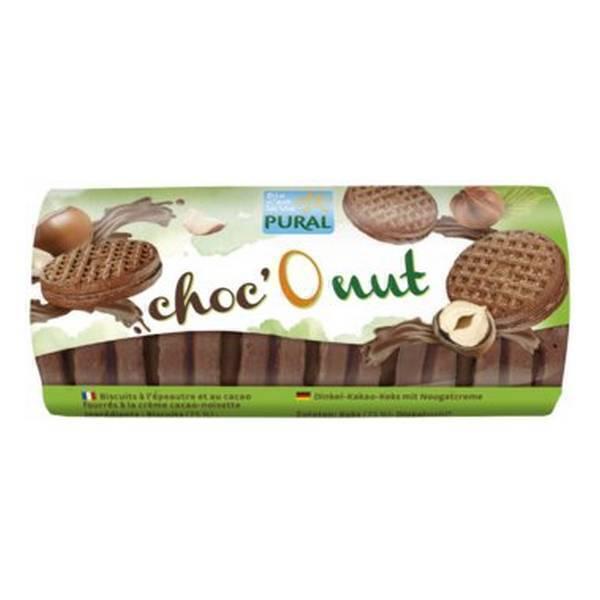 Pural - Biscuit fourré noisette choc'O nut 85g