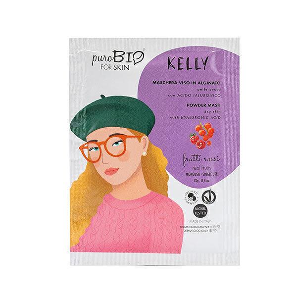 PuroBIO Cosmetics - Masque poudre peaux sèches Fruits rouges 13g