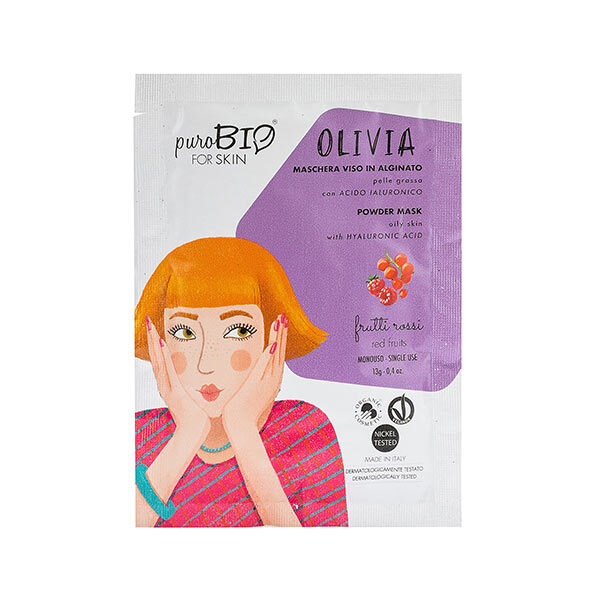 PuroBIO Cosmetics - Masque poudre peaux grasses Fruits rouges 13g