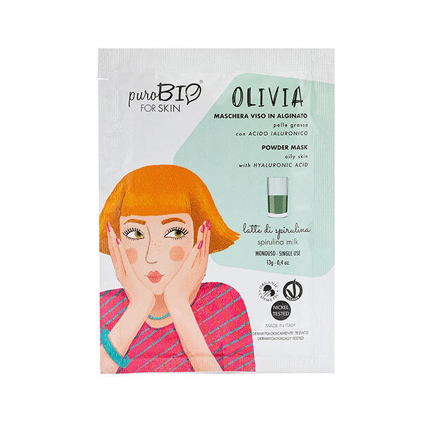 PuroBIO Cosmetics - Masque poudre peaux grasses Spiruline 13g