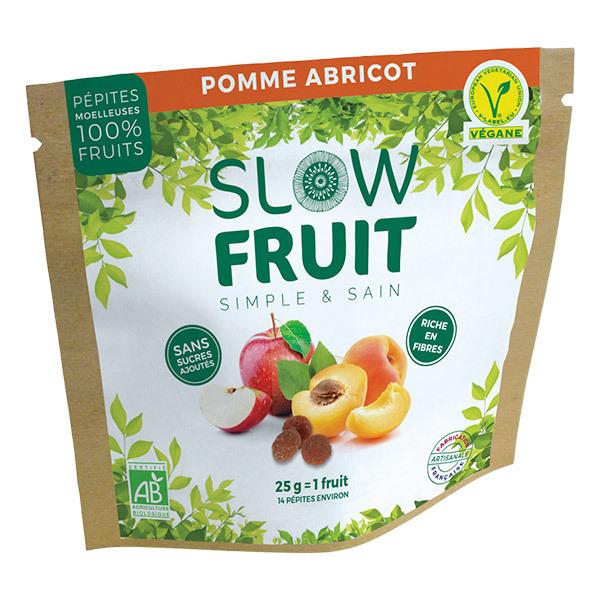 Slowfruit - Encas pépites de fruits Pomme Abricot 25g