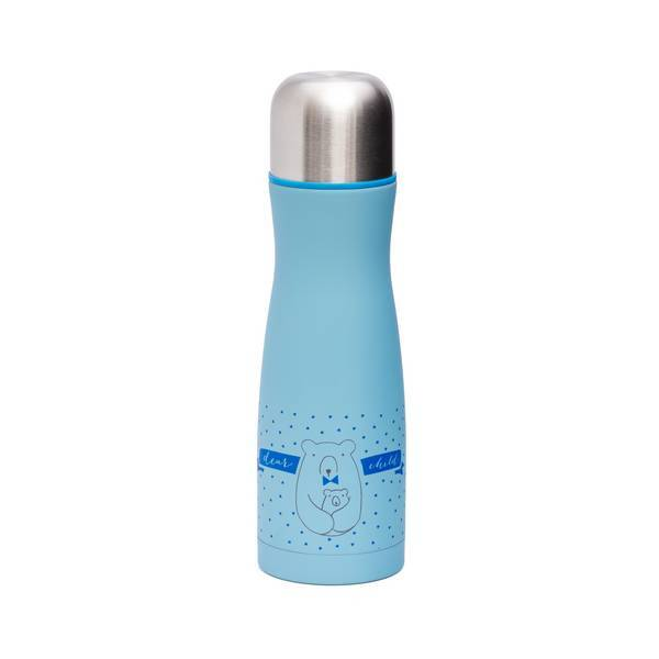 Suavinex - Bouteille isotherme Ours Bleu 500ml