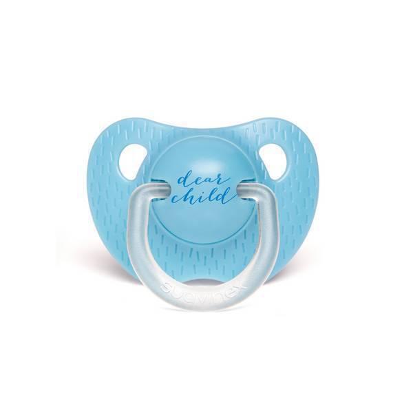Suavinex - Sucette silicone Dear child bleu clair - 6 à 18 mois
