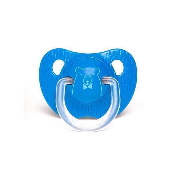 Suavinex - Sucette silicone Ours bleu foncé - 6 à 18 mois