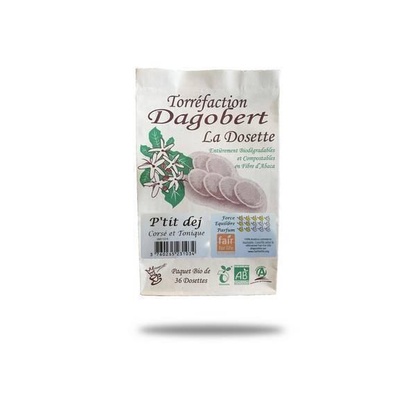 Torréfaction Dagobert - Café dosette bio P'tit Dej x 36