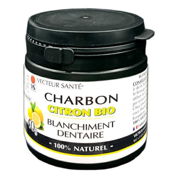 Vecteur Santé - Charbon dentaire blanchissant Citron 40g