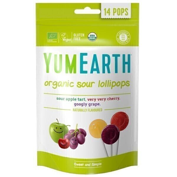 YumEarth - Sucettes Pops acidulées x14
