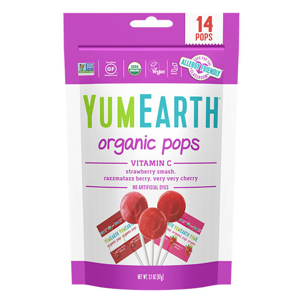 YumEarth - Sucettes Pops fruits rouges X14