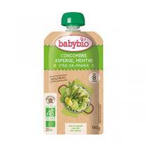 Babybio - Gourde concombre asperge menthe d'Île-de-France dès 8 mois -18