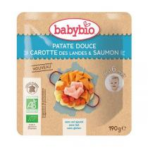 Babybio - Sachet de patate douce carotte saumon dès 6 mois - 190g