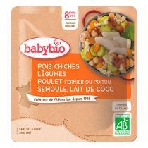 Babybio - Sachet pois chiches légumes poulet semoule dès 8 mois - 190g