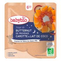 Babybio - Soupe de butternut carotte lait de coco dès 6 mois - 180g