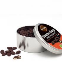 Belledonne - Boite métal Graines de courge au chocolat noir 57% 200g