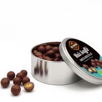 Belledonne - Boite métal Maïs soufflés au chocolat au lait 150g