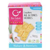 Bio Soleil - Crackers nature & bienfaits Ail et Fines Herbes 100g