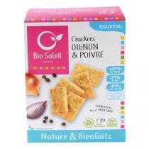 Bio Soleil - Crackers nature & bienfaits Oignons et Poivre 100g