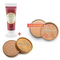 Couleur Caramel - 1Base transparente+1 poudre beige achetés, 1anti-cernes offert