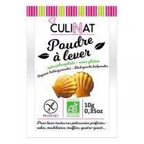 Culinat - Poudre à lever sans phosphate sans gluten 8X10g