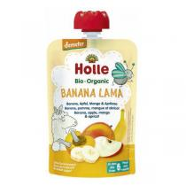 Holle - Gourde Banana Lama banane pomme mangue et abricot 100g