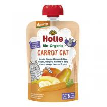 Holle - Gourde Carrot Cat carotte mangue banane poire 100g