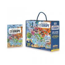 SASSI Junior - Livre et puzzle Voyage, découvre, explore: L'Europe - Dès 6 ans