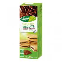 Valpibio - Biscuits fourrés cacao sans gluten 225g