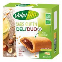 Valpibio - Biscuits Déli'Duo coeur chocolat noisette sans gluten 180g