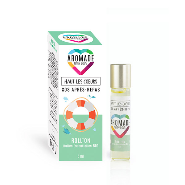 Aromade with love - Roll'on haut les coeurs (Sos Après repas) 5ml