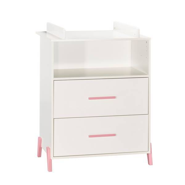 Baby Price - Commode à langer Joy Rose