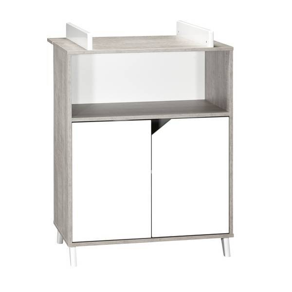 Baby Price - Commode à langer Scandi Grise