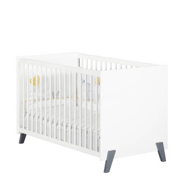 Baby Price - Lit bébé Joy Gris 120x60cm