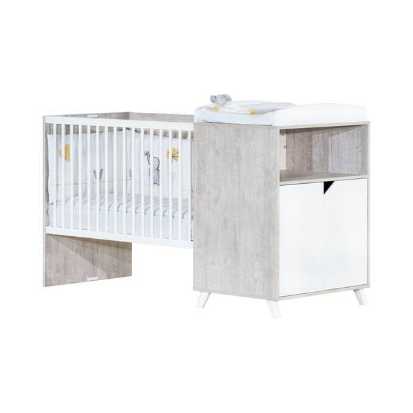 Baby Price - Lit combiné Scandi 120x60cm évolutif en 90x190cm Gris