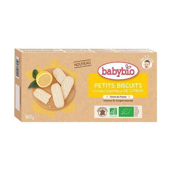Babybio - Petits biscuits à l'huile essentielle de citron - 160g