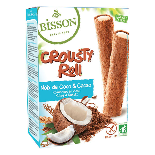 Bisson - Biscuits cacao noix de coco - Crousty roll 125g