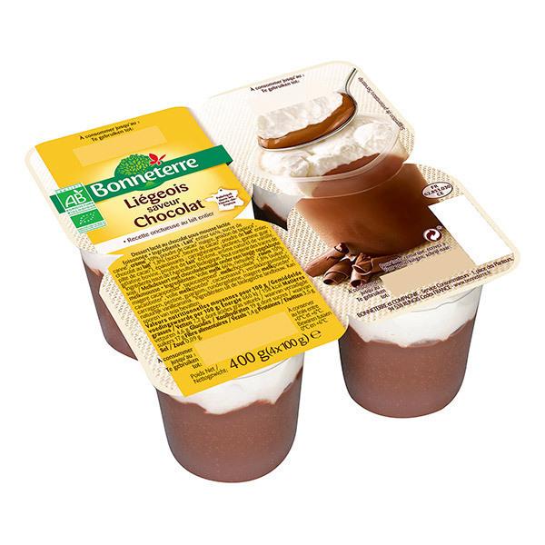 Bonneterre - Liégeois saveur Chocolat 4X100g