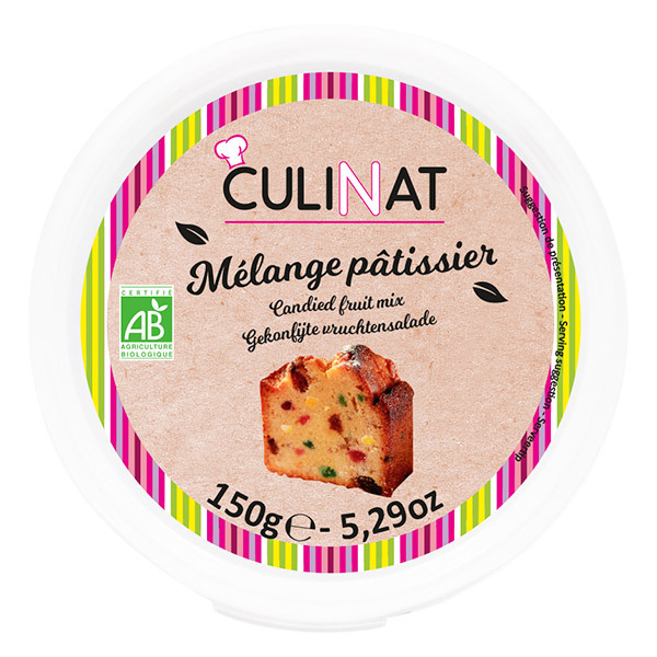 Culinat - Mélange pâtissier fruits confits Bio 150g