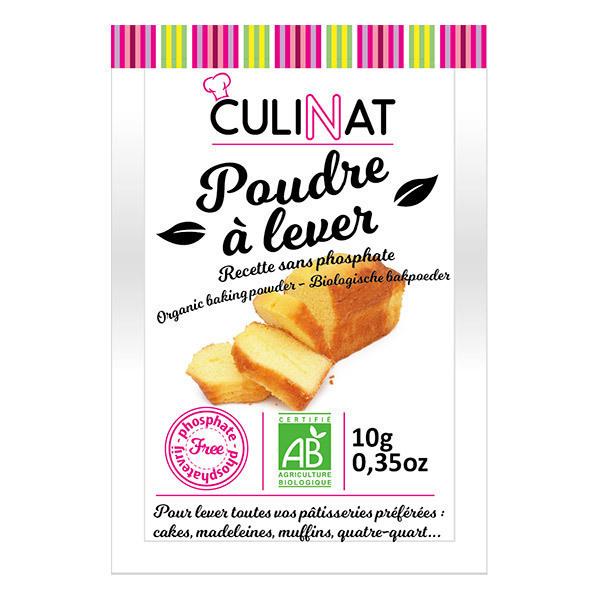 Culinat - Poudre à lever sans phosphate Bio 8X10g
