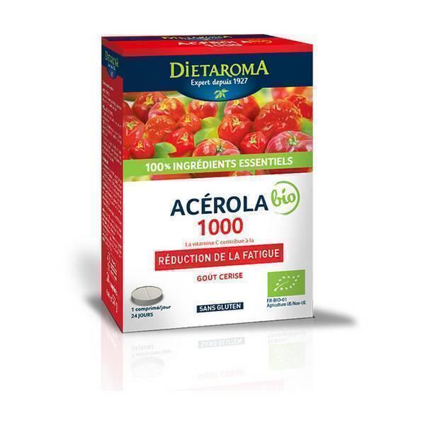Dietaroma - Acérola 1000 goût cerise - 24 comprimés